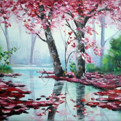 In the pink pond