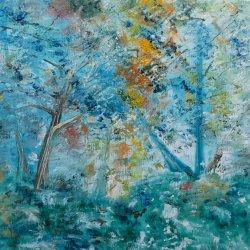 Forest in the dark glade