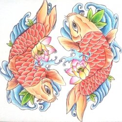Fish tatoo drawing