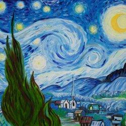 Starry Night (Van Gogh) La noche estrellada (Réplica)