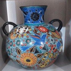 Sky blue vase