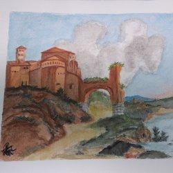 Roman monastery landscape (adaptation)