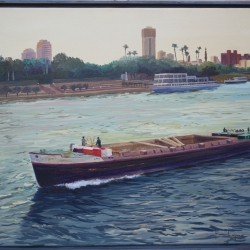 Barge sailing the Nile