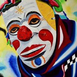 Mascara de payaso  de Corpus Cristi Ecuador