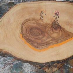 Palo de madera de olivo 1.