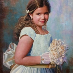 COMMUNION PORTRAIT OF GIRL