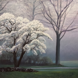 Spring in the mist