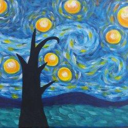 La noche estrellada - Van Gogh - Reproducción