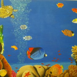 Marine background with tropical fish