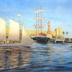 Barcelona - Oleos de marinas impresionistas del Mediterráneo