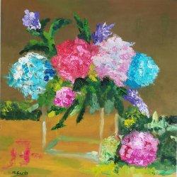 Flores y cristal