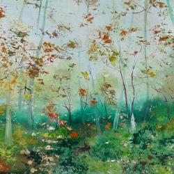 Bosque con niebla (paisaje)