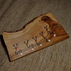 Olive wood stick 3 (incense holder)