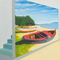 Barcas Orilladas y Trasfondo