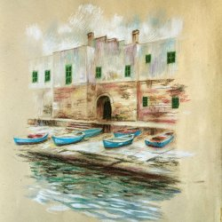 Polignano a mare. Original paintings