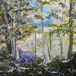 Flores en el bosque.