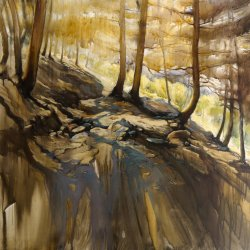 """""""Path"""" (Sierra de las Nieves, Granada) 120 x 120 cm"""