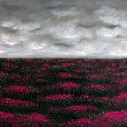 Campo de brezo, óleo sobre lienzo.