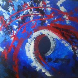 Sinfonía de colores...ENVÍO GRATIS...Pintura 100x80 cm