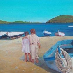 """Girls walking through Port Lligat - Cadaqués"""