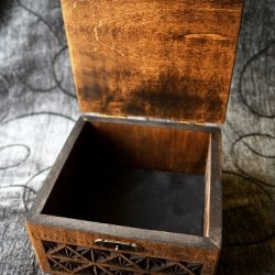 Linden Wood Hand Carved Wooden Box