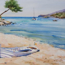 La barca blanca. Sant Elm.