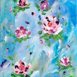 """""""Romantic roses 01 """", 60x40cm, 110 euros"""