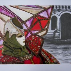 Carnaval de Venecia: la màscara del Diamante.