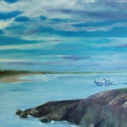 Boca da Barra, acrylic 40x80