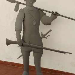 Escultura Soldado con mosquete