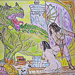 Conan in dragon temple.