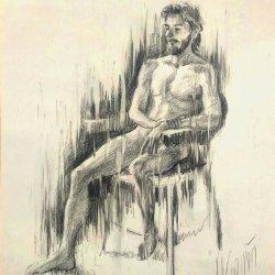 Male human figure. Original drawings online