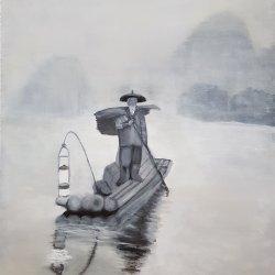 Pescador perdido 55x38 cm