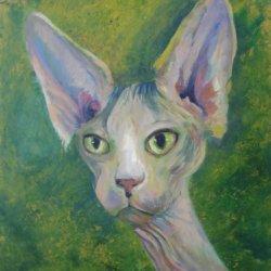 EGYPTIAN CAT PORTRAIT