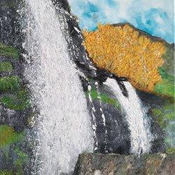 """ La Cascada de Sotillo de Sanabria"", 70x50cm"