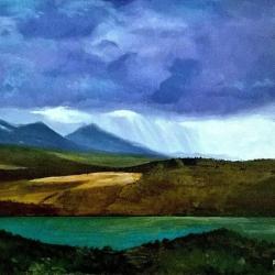 Rain and light on the mountain