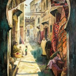 A street in Fez, Morocco