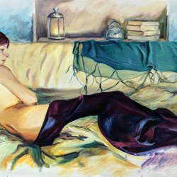 retrato en reposo. Pinturas originales online