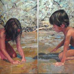 Niños en la arena