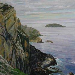 Tarde gris en los acantilados de Cabo Peñas