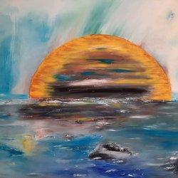 """ Amanecer en Cala Ratjada "" , 100x73 cm, 290 euros"