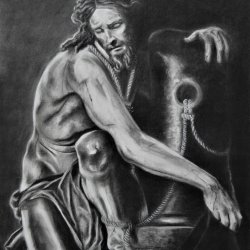 """""""Christ collecting his garments"""""""