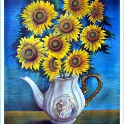 Pitcher of Enamorados with Sunflowers by Jose Prilo H.jpg