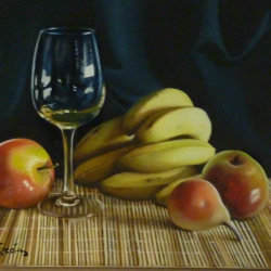 Cup with fruit