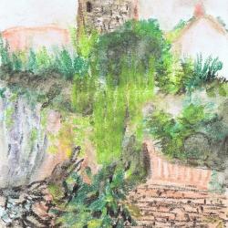 TOWER PASTEL PAINTING Cambriles (Castell de Ferro-GRANADA)