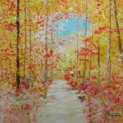 El paseo de un bosque