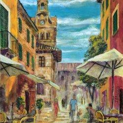 Alcúdia, Mallorca. Cuadros originales pintados a mano