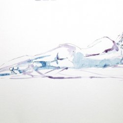 Male nude watercolor