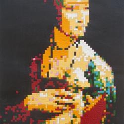 mujer con armiño