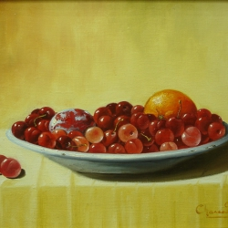DISH WITH CHERRIES